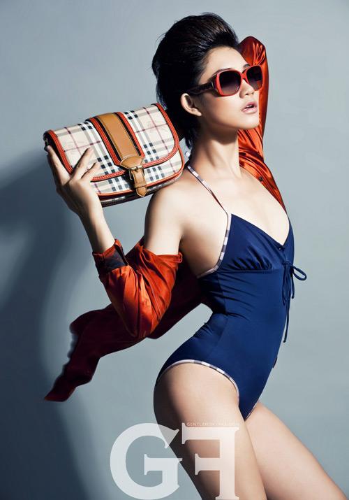 Trà My mặc bikini lộ ngực... khiêm tốn - 1