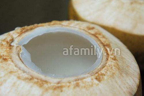 Thạch rau câu trái dừa ngon mát - 8