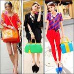 Thời trang - Rực rỡ với túi xách màu neon