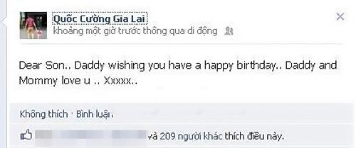 Cường Đôla khoe ảnh sinh nhật Subeo - 2