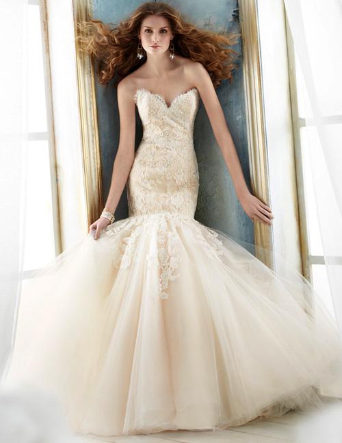 Váy cưới tôn đường cong cho nàng dâu - 5