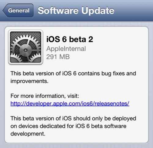 Apple tung iOS 6 beta 2 - 1