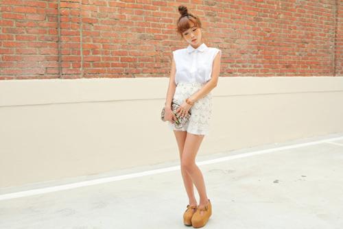 Đẹp tựa thiên thần với váy ren trắng - 6