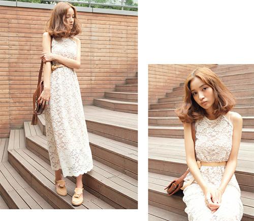 Đẹp tựa thiên thần với váy ren trắng - 5