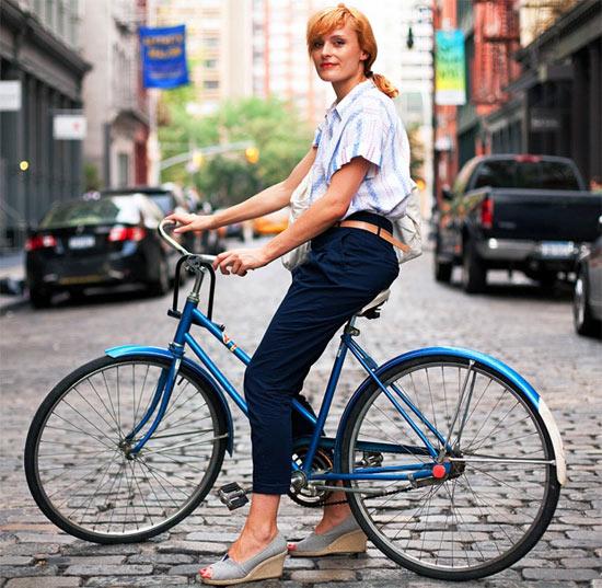 Khi chân dài yêu xe đạp hơn xế hộp! - 7