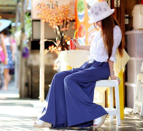 Cách mặc đẹp với quần ống rộng 2012? - 2