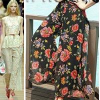 Cách mặc đẹp với quần ống rộng 2012?