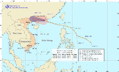 Bão số 3 suy yếu, vịnh Bắc Bộ mưa dông mạnh - 1