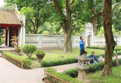 Sinh viên vào mùa 'trông rùa Văn Miếu' - 11