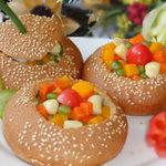 Ẩm thực - Thích mắt với bánh mì nhồi rau củ