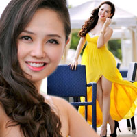 MC Ngọc Trang quyến rũ với váy maxi