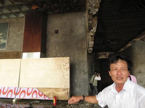 Cháy dữ dội Trung tâm văn hóa Quảng Bình - 3