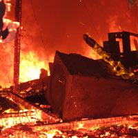 Cháy dữ dội Trung tâm văn hóa Quảng Bình