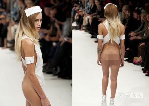 Người mẫu nude làm nóng sàn catwalk - 8
