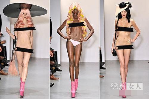 Người mẫu nude làm nóng sàn catwalk - 10