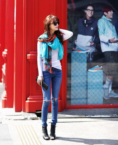 Mách nàng mặc đẹp với 2 kiểu quần jeans - 3