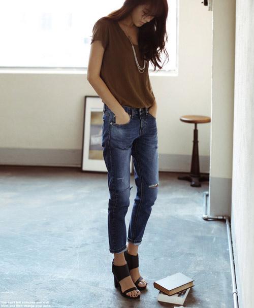 Mách nàng mặc đẹp với 2 kiểu quần jeans - 2