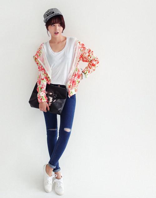 Mách nàng mặc đẹp với 2 kiểu quần jeans - 1