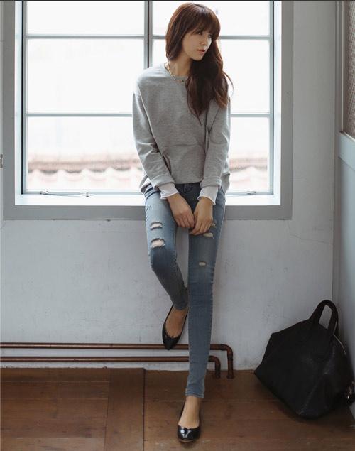 Mách nàng mặc đẹp với 2 kiểu quần jeans - 4