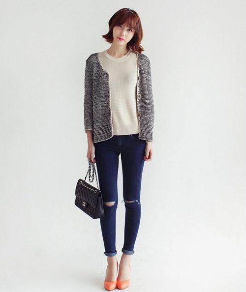 Mách nàng mặc đẹp với 2 kiểu quần jeans - 5