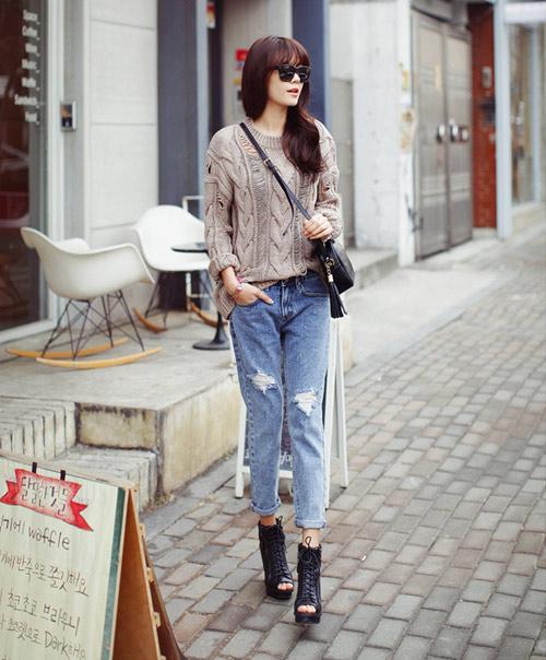 Mách nàng mặc đẹp với 2 kiểu quần jeans - 7
