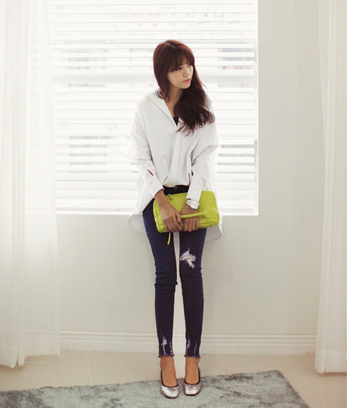 Mách nàng mặc đẹp với 2 kiểu quần jeans - 6