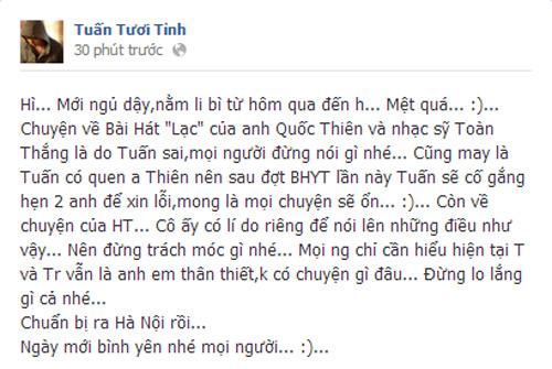 """Bùi Anh Tuấn nhận lỗi sử dụng nhạc """"chùa"""" - 2"""