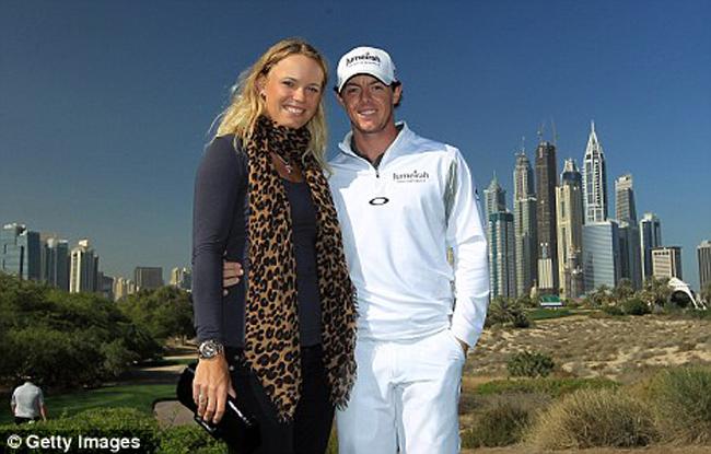 Caroline Wozniacki (quần vợt) và Rory McIlroy (golf).