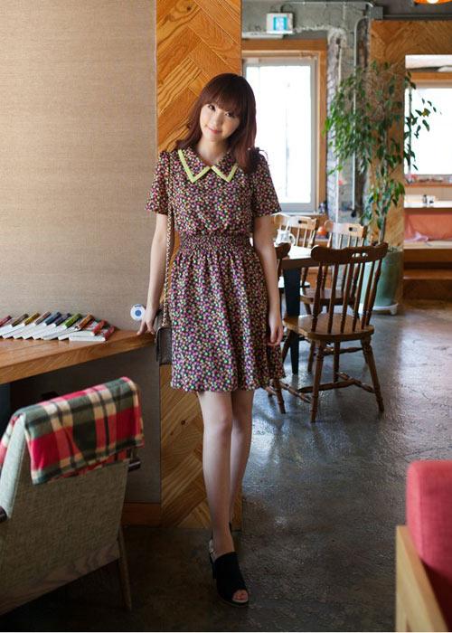 Váy liền vintage thanh lịch tới công sở - 1