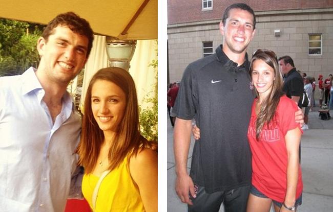 VĐV bóng bầu dục Andrew Luck và cựu VĐV thể dục dụng cụ Nicole Pechanec.