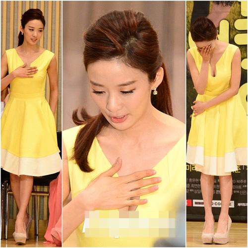 Mỹ nhân Hàn khoe khe ngực chật chội - 1
