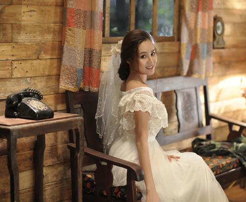 Vy Oanh lộng lẫy làm cô dâu - 6