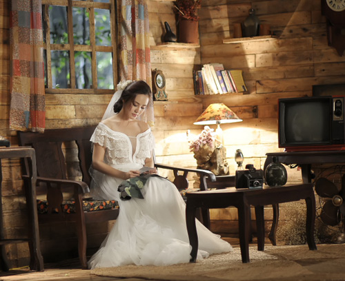 Vy Oanh lộng lẫy làm cô dâu - 13