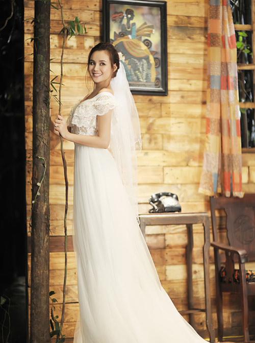 Vy Oanh lộng lẫy làm cô dâu - 5