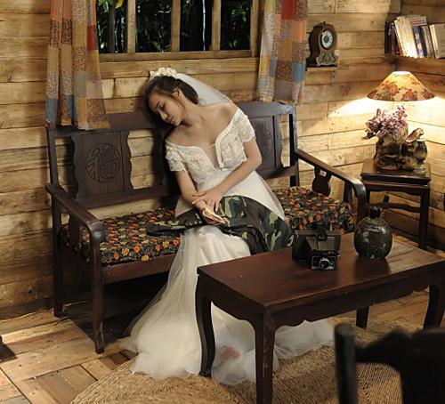 Vy Oanh lộng lẫy làm cô dâu - 14