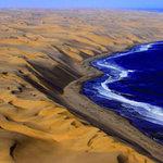 Du lịch - Cảnh tượng ngoạn mục nơi sa mạc gặp biển