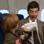 Video Clip Cười - Mr Bean: Đi máy bay