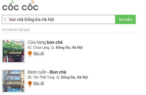 Tính năng địa điểm của Cốc Cốc & ông lớn Google - 1