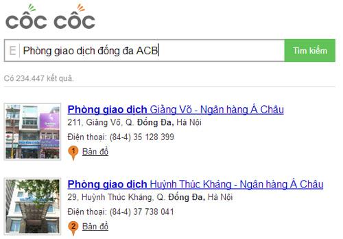 Tính năng địa điểm của Cốc Cốc & ông lớn Google - 3