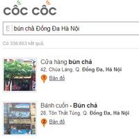 Tính năng địa điểm của Cốc Cốc & ông lớn Google