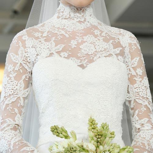 Váy cưới ren đem nét duyên cho nàng dâu - 12