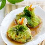 Ẩm thực - Món ngon ngày hè: Bắp cải gói tôm thịt