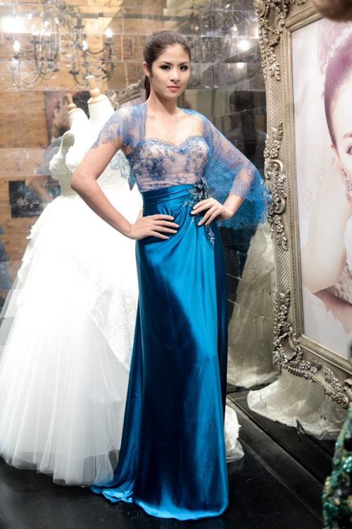 Hoa hậu Ngọc Hân thử đồ trước giờ G - 4