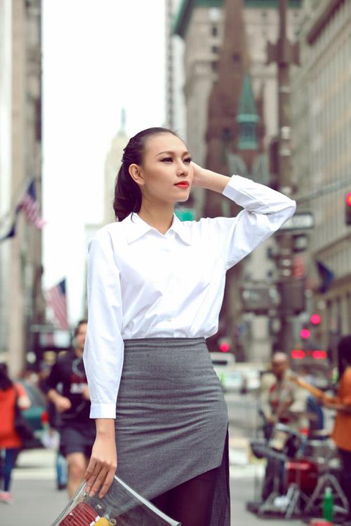 Diệu Huyền xinh đẹp trên phố New York - 4