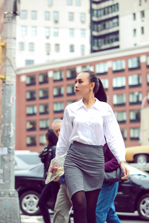 Diệu Huyền xinh đẹp trên phố New York - 6