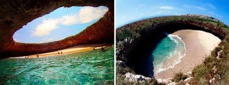 Thăm bãi biển tuyệt đẹp nằm dưới hố sâu - 11