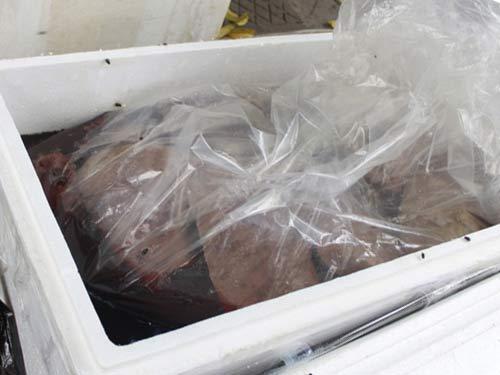 HN: Bắt xe tải thịt gà và nội tạng bốc mùi - 1