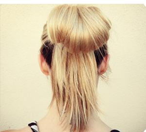 Tóc búi nơ dễ thương cho bạn gái - 1