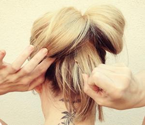 Tóc búi nơ dễ thương cho bạn gái - 6