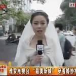 Tin tức trong ngày - TQ: Cô dâu mặc váy cưới, đưa tin về động đất